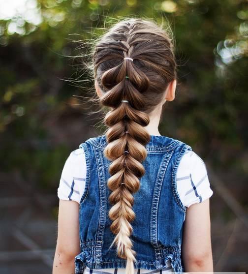 最火的儿童公主头编发发型,适合小女孩参加学校的舞台表演和舞蹈演出
