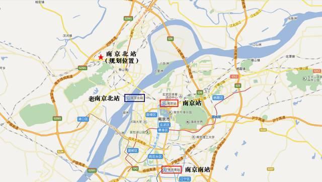 (南京北站规划位置)