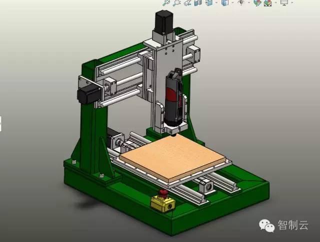 【工程机械】三轴桌面型数控雕刻机3d图纸 solidworks