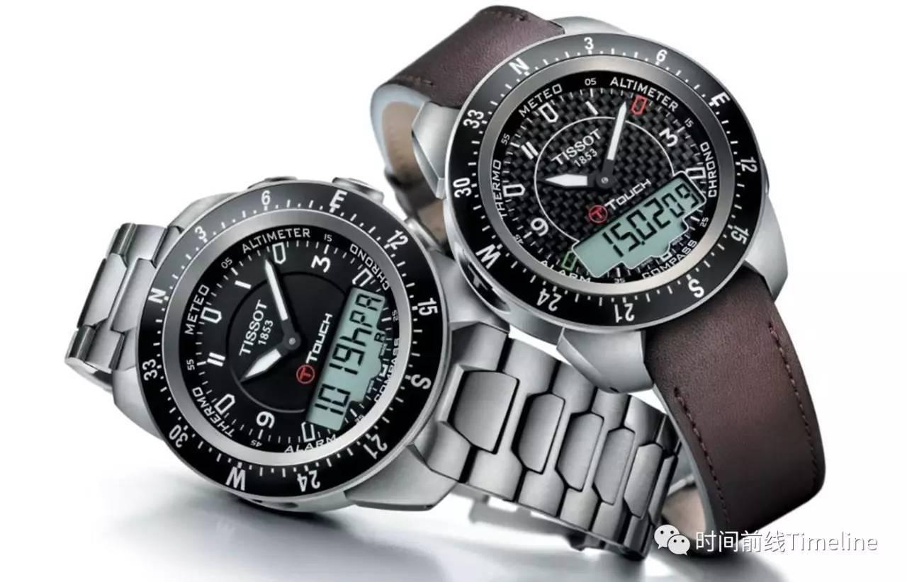 触摸表镜的不同位置,手表指针就自动旋转,显示气压,高度,指南针等功能图片