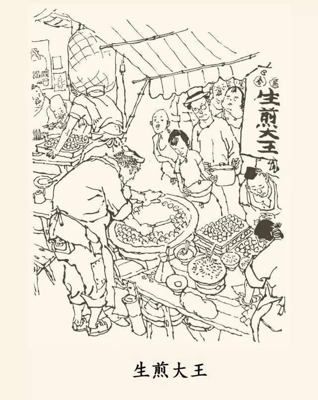 上海小吃手绘画