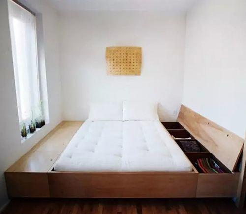 家里装修佩又买进床了,做个地台床当空父亲还透气,看完懊悔买进早了