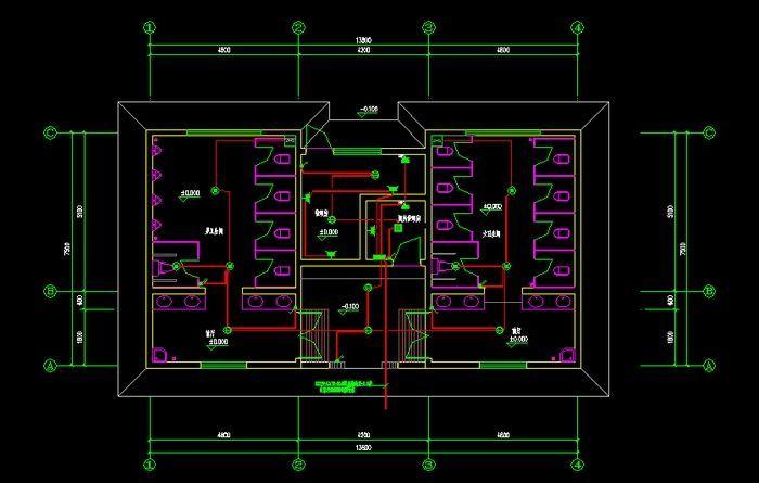 安装接线图  包括电气设备的布置与接线,应与控制原理图对照阅读,进行