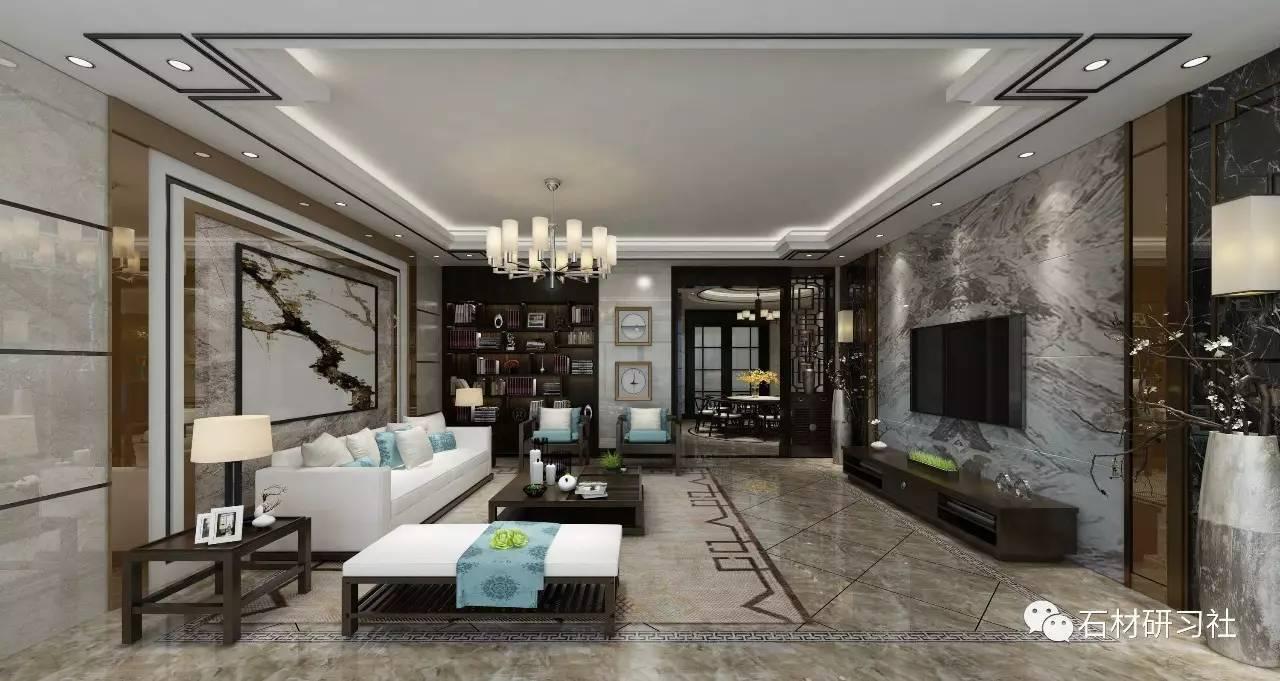 新中式客厅如何设计背景墙?这些案例款款经典