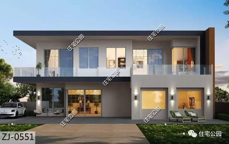 简约风尚,17x18米二层现代别墅(全图 预算 视频展示)
