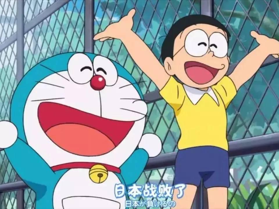 哆啦A梦开心地说 日本战败了图片
