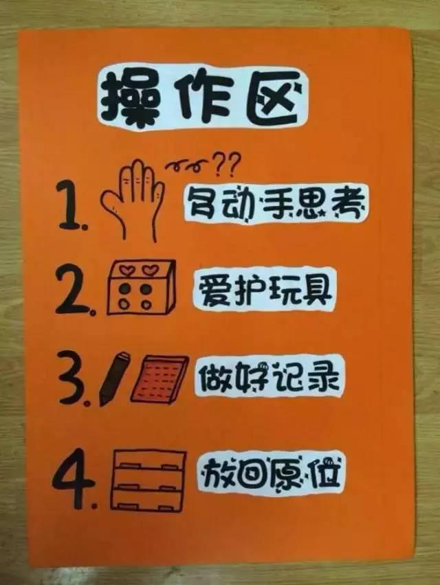 有特色幼儿园的进区卡 区域标志和规则范例图片
