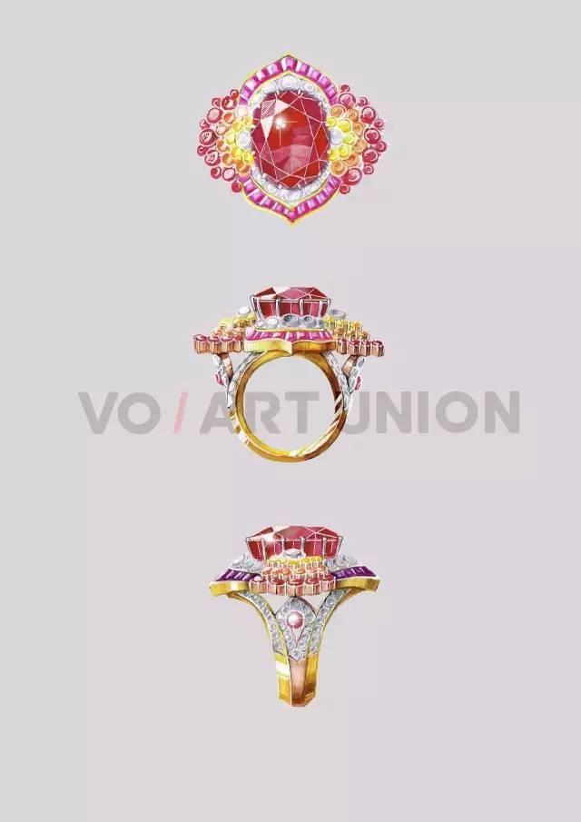 九月珠宝手绘 用笔钩勒珠宝灵魂