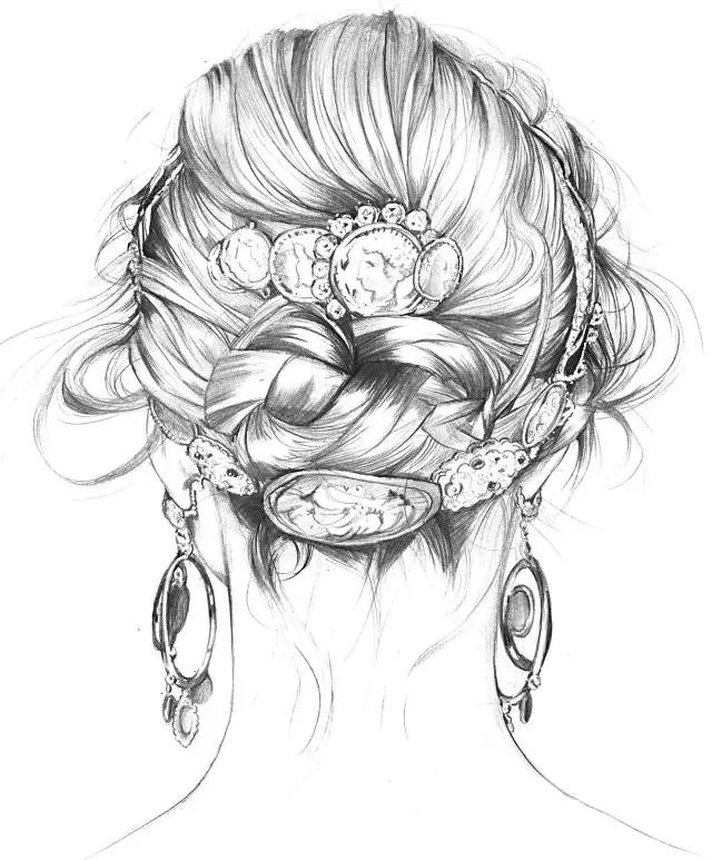 插画教程| 手绘女神发型