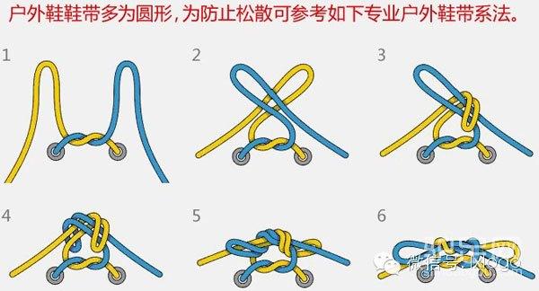 【户外知识】登山鞋鞋带的系法图解