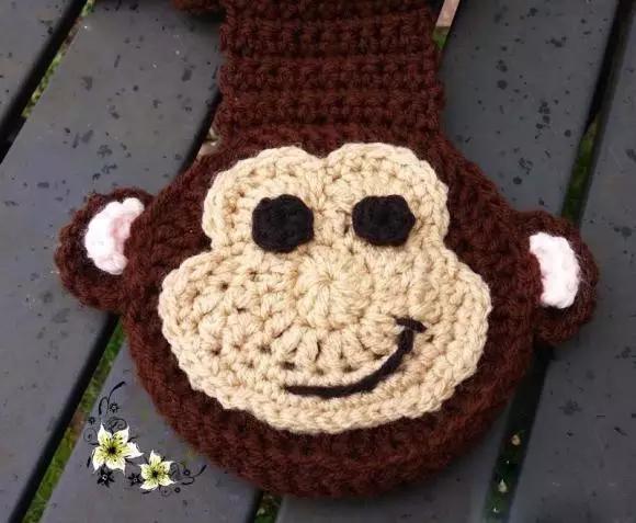 手工编织丨趣味钩包之儿童钩针小猴束口背包