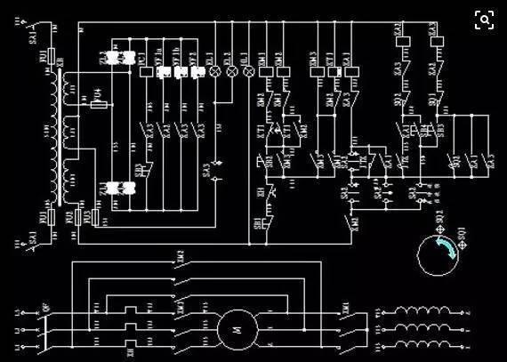 应根据结构简单,层次分明清晰的原则,采用电器元件展开形式绘制.