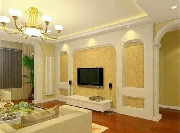 欧式风格背景墙用石膏线来搭配,也是非常漂亮.