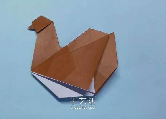 折纸母鸡的方法图解 怎么折母鸡的折法步骤