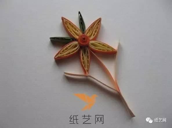 从零开始学衍纸的好教程 详细衍纸花朵制作图解