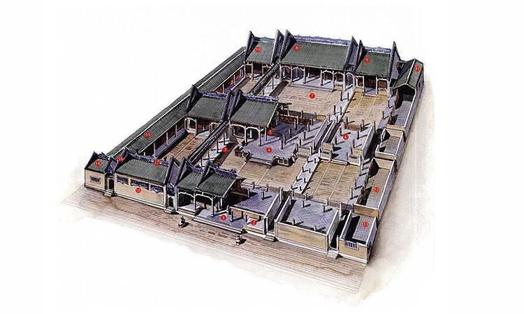 古建筑图片手绘平面图