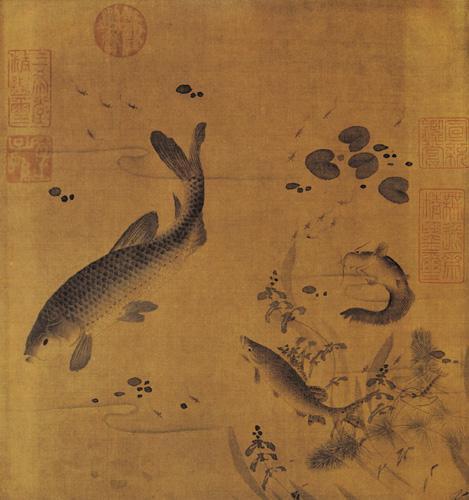 吉庆有余,历代名家画鱼图片