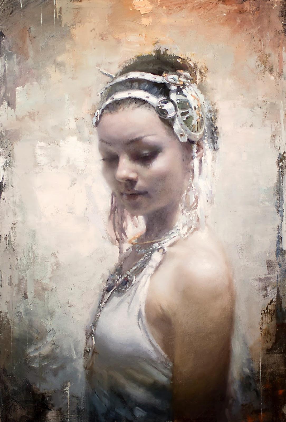 美国画家 Jeremy.Mann 人物油画作品欣赏