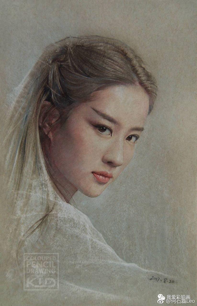 手绘女神——白浅-刘亦菲 这种风格太美!
