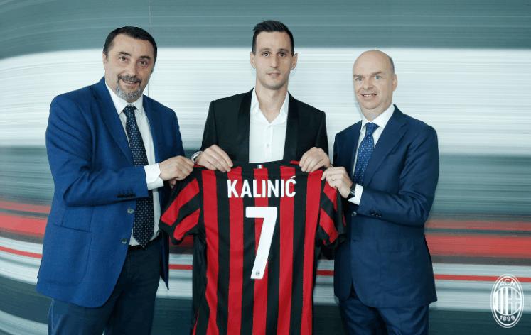 AC米兰4年合约签下卡利尼奇