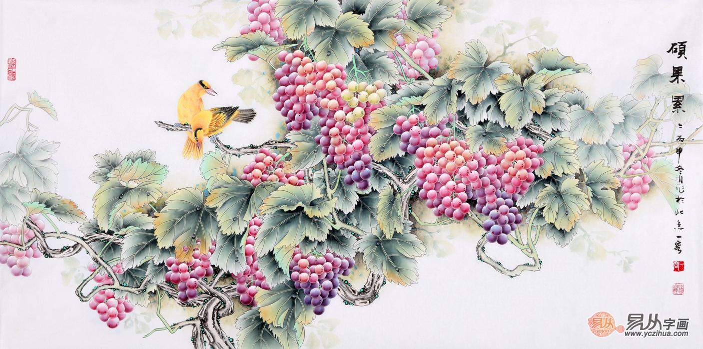 王一容画家工笔花鸟画 家居装饰画和投资收藏首选