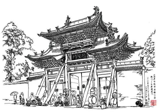匠心妙笔--手绘视角的山西古建筑