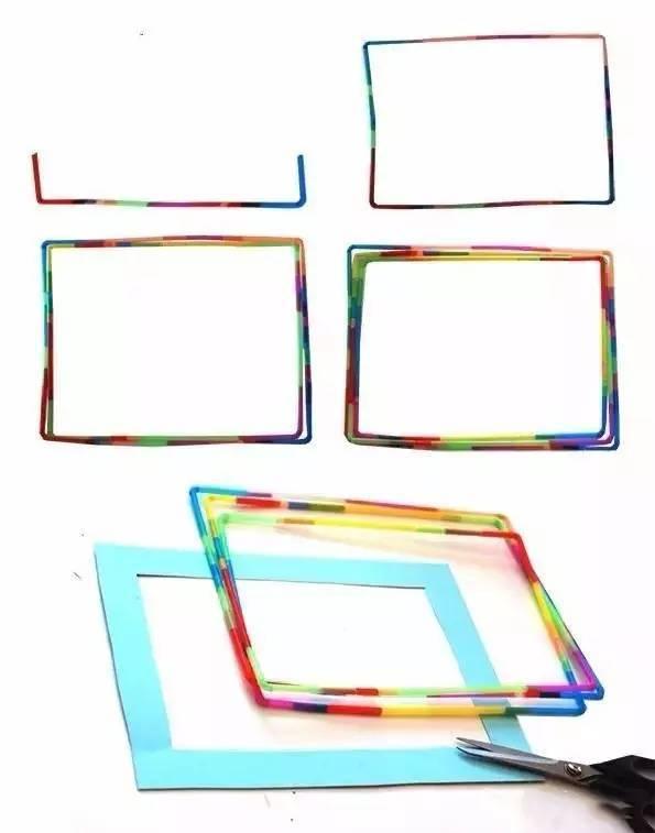 20款亲子手工之相框制作,用纸胶带、树枝、纸皮就能做出美美的相框哦~