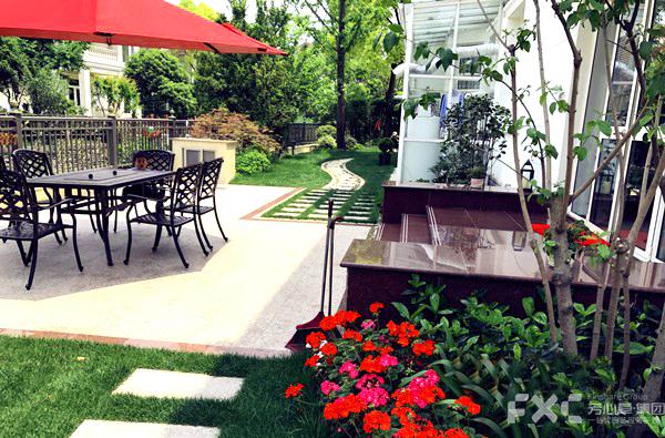 成都别墅庭院花园设计花园改造