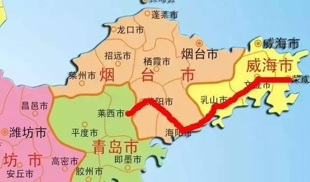 威海到青岛的距离也将大大缩短至1小时左右.