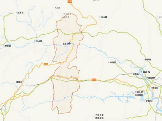 巴东鹤峰建始地图