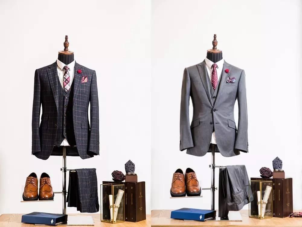 精纺全毛黑色时尚礼服套装(六件套)原价5800元