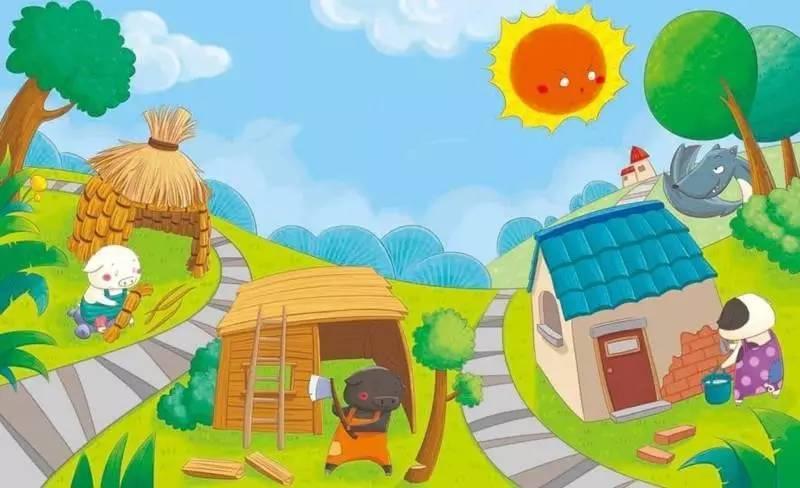 黄色�9��y.��.�_棒棒糖姐姐讲故事:三只小猪盖房子