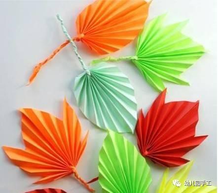 九,折纸树叶