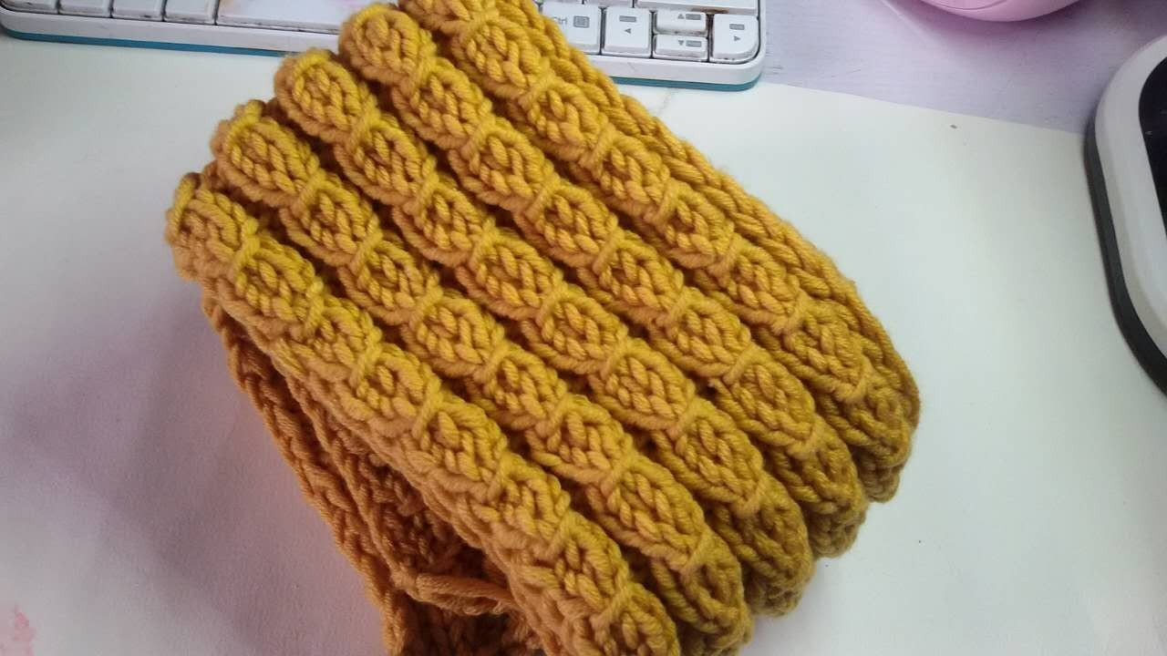 新手编织围巾教程 铜钱花围巾