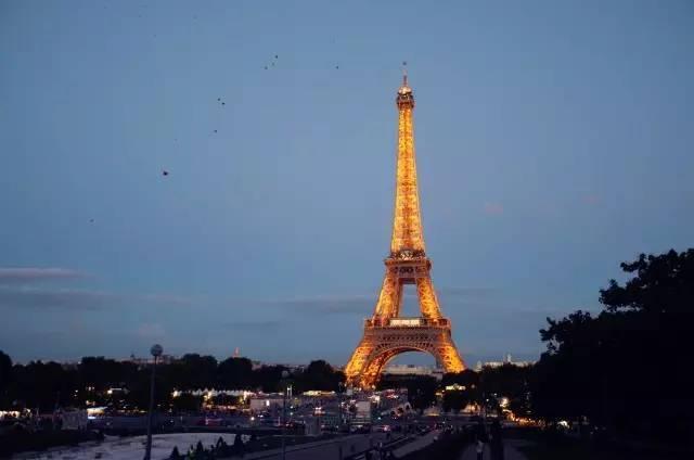 每个整点埃菲尔铁塔还会闪灯.