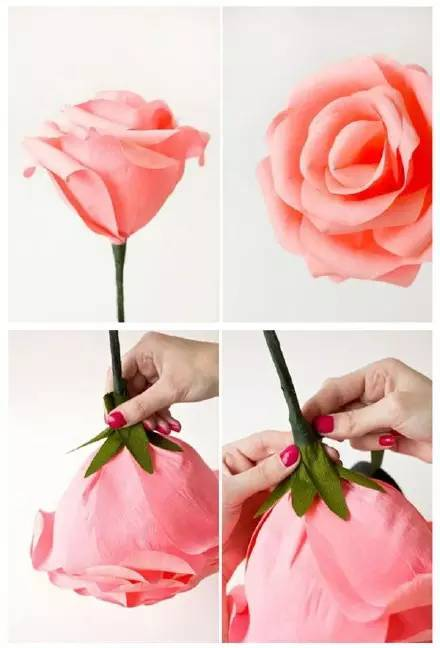 【七夕手工】6款幼儿园玫瑰花的手工制作教程,太美了!