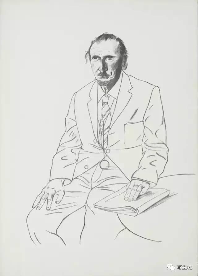 画坛巨匠:大卫·霍克尼单线条素描