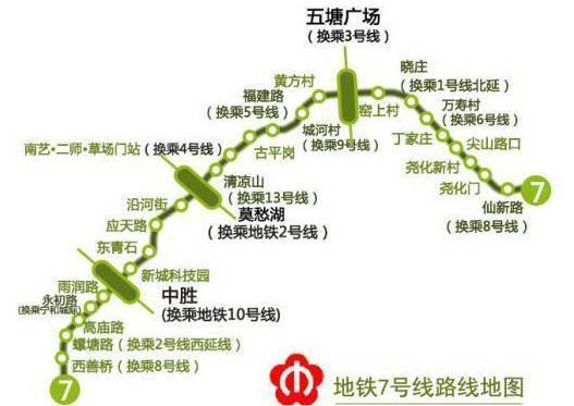 南京地铁7号线来了! |附最新线路图