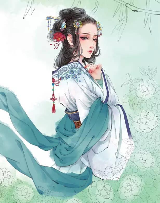 【步骤图】手绘古典美女教程一起学起来!