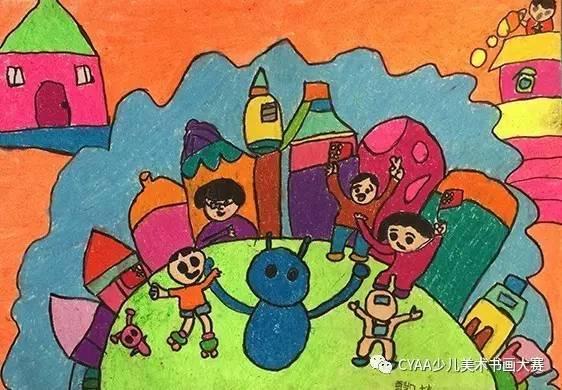 捷 7岁 女 简笔画 《机器人》 指导 李秉轩 8岁 男 简笔画 《保护小动