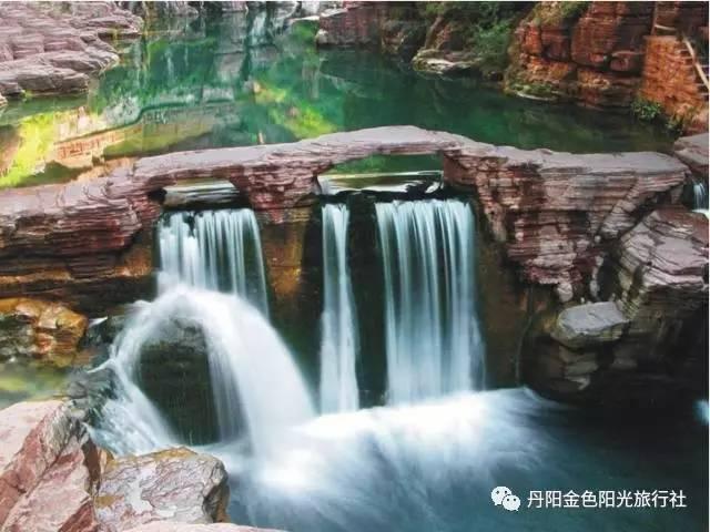 金色阳光 河南云台山青龙峡风景名胜区,万仙山,永城芒