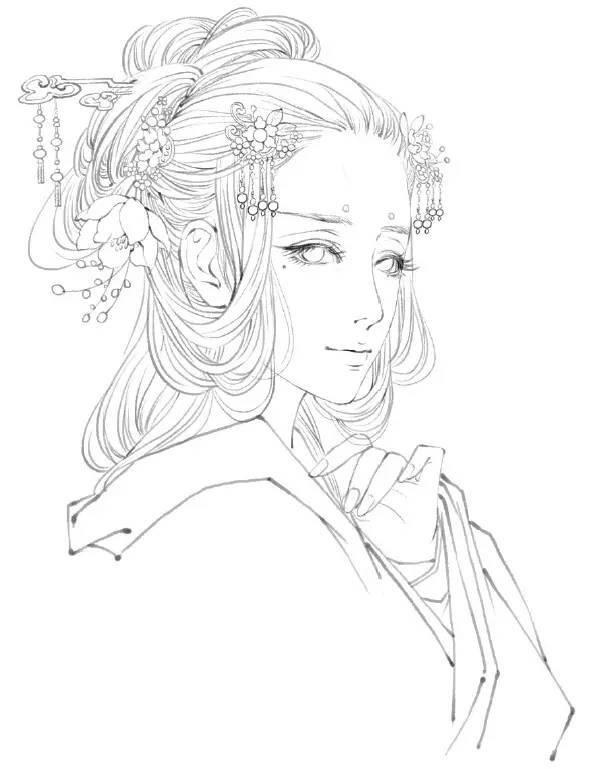 手绘古典美女教程一起学起来
