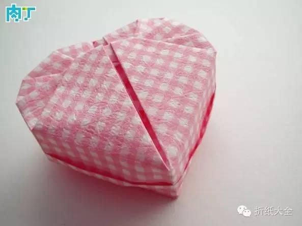 【折纸大全】折纸漂亮又可爱的心形盒子,七夕你可能用