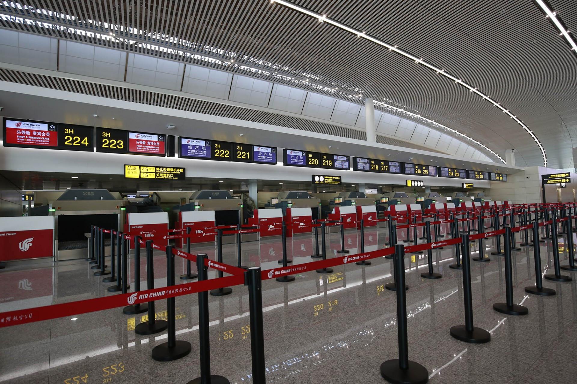 江北机场t3a航站楼登机流程