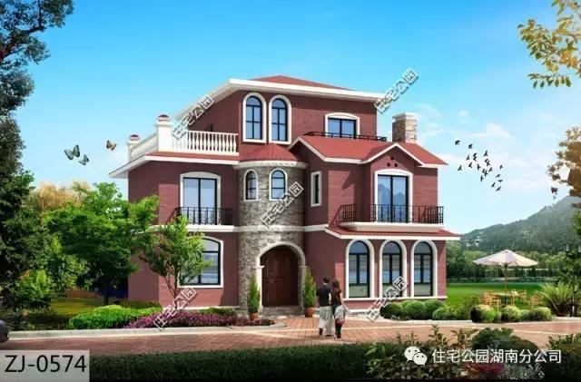 12x13米农村别墅,5个卧室,全明间设计!