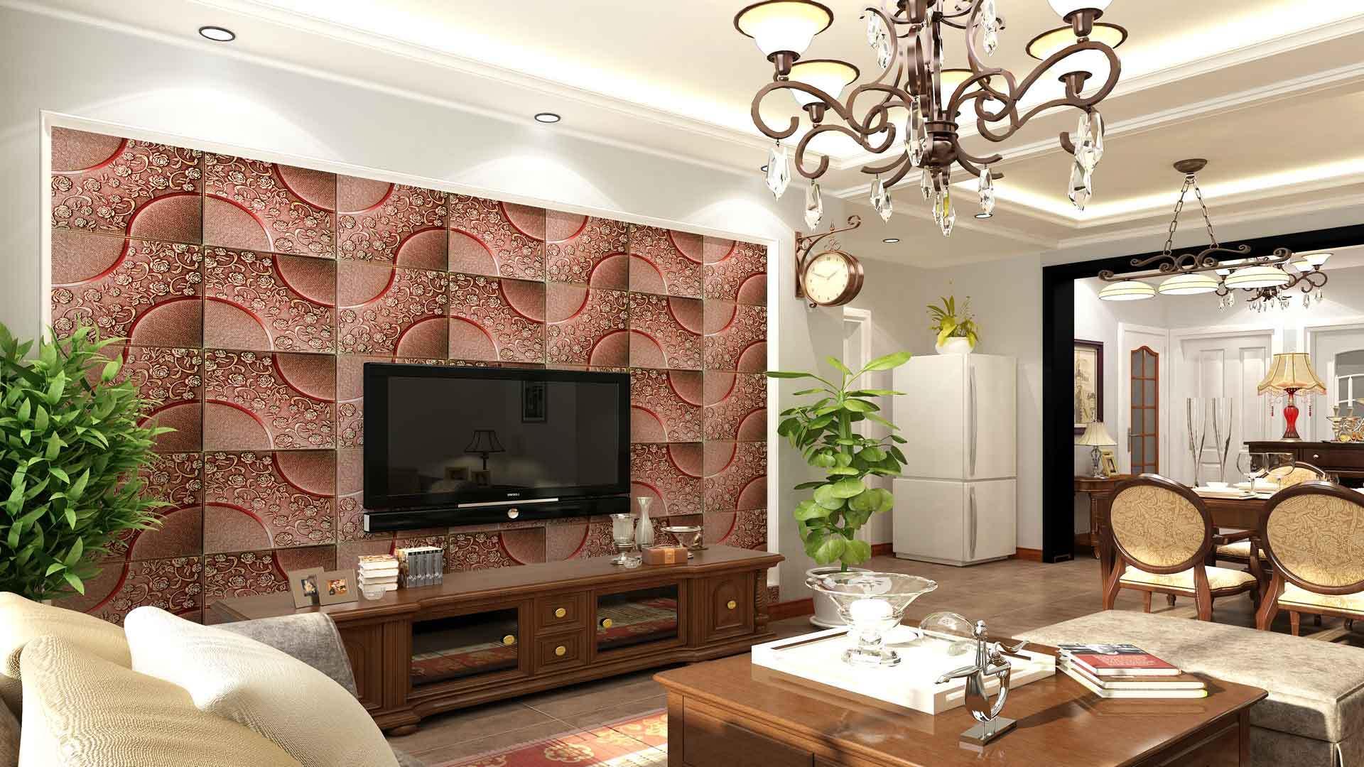 怎么选择客厅电视背景墙皮雕软包_手机搜狐网