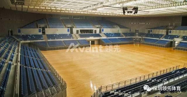 2443座;柯勒运动木地板7998平方米 武清体育中心体育馆(乒乓球比赛)