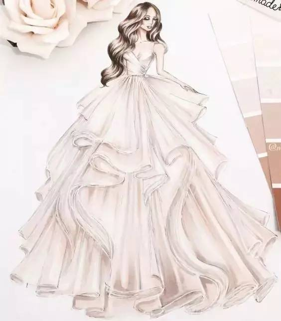 绘画婚纱图片大全大图_龙的绘画图片大全大图