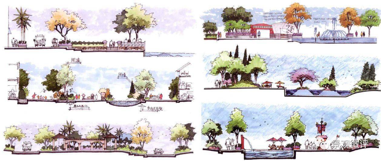 小游园设计铺装手绘