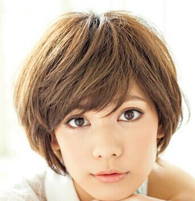 能更好地衬出漂亮的五官,鹅蛋脸女生最爱短发发型之一.图片